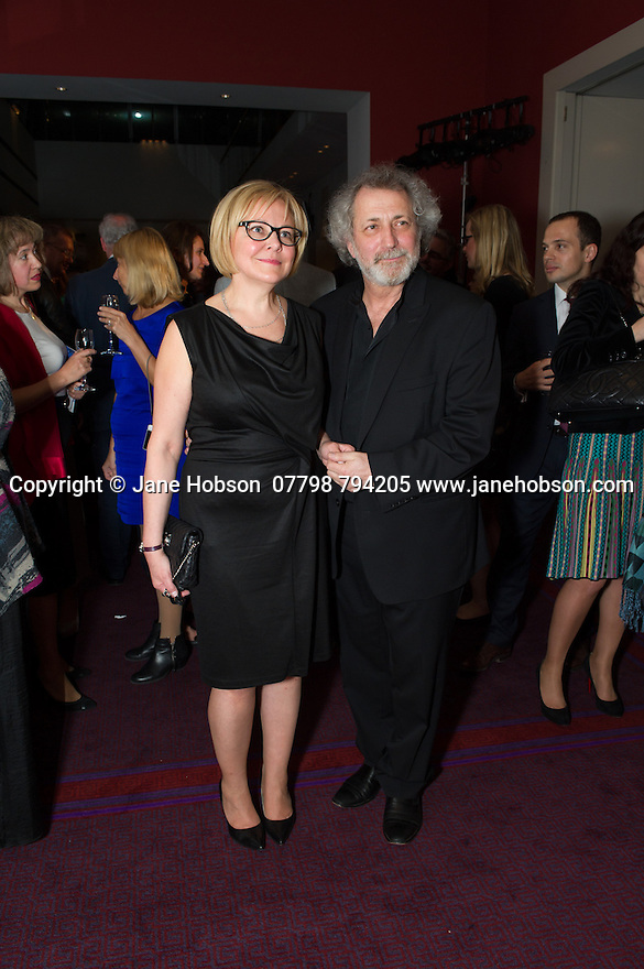 London, UK. 15.04.2014. Eifman Ballet after-party on press night for the opening of Rodin, Sky Bar, London Coliseum. Pictured: Boris Eifman (right). Photograph © Jane Hobson.