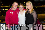 David Collins, Alannah Collins and Louise Collins from Ashleigh Downs, Tralee enjoying a night out at the Dogs in the Kingdom Greyhound stadium on Friday