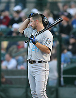 2007:  John-Ford Griffin of the Syracuse Chiefs waits on deck before an at bat vs. the Rochester Red Wings in International League baseball action.  Photo By Mike Janes/Four Seam Images