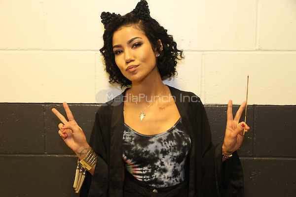 NEW YORK, NY - OCTOBER 17, 2014<br /> <br /> Jhene Aiko backstage at the Def Jam 30 Anniversary Client at The Barclays Center, October 16, 2014 in New York City.<br /> <br /> <br /> &copy; Walik Goshorn / MediaPunch