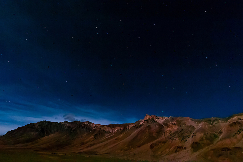 Night view from the Gold Drop Camp (tented accomodation) at Sarchu The camp (at 14,432 feet) along the so-called Leh-Menali Highway is between the Baralacha La and Lachulung La Passes, near the boundary between Himachal Pradesh and Ladakh in India.