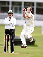 Ed Foster bowls for Highgate during the Middlesex County Cricket League Division Three game between Highgate and South Hampstead at Park Road, Crouch End on Sat Aug 2, 2014