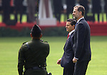 The King of Spain Felipe VI and his wife, the Queen Letizia, attend an official ceremony by Mexican President Enrique Pena Nieto and his wife, the actress Angelica Rivera, at the Campo Marte in Mexico City, June 29, 2015. Felipe and Letizia are attending a three.day official visit to Mexico. Photo by Heriberto Rodriguez