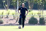 CARY, NC - APRIL 20: Assistant coach Scott Vallow. The North Carolina Courage held a training session on April 20, 2017, at WakeMed Soccer Park Field 7 in Cary, NC.