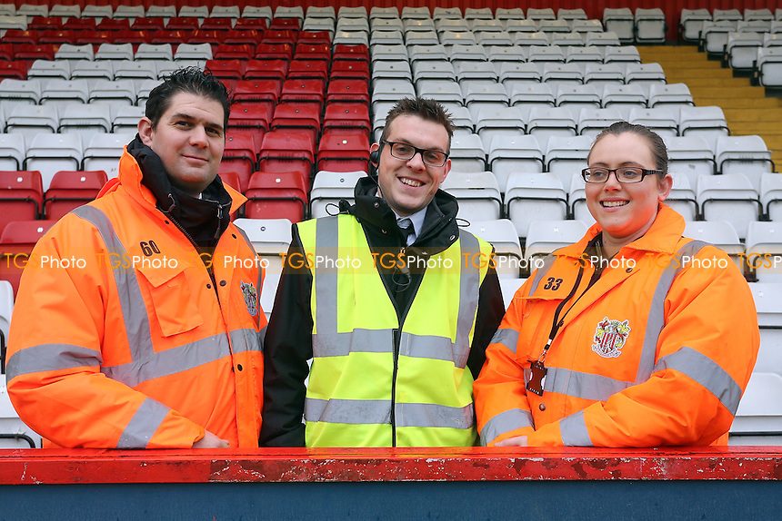 Matchday stewards ready to help during Stevenage vs Newport County, Sky Bet EFL League 2 Football at the Lamex Stadium on 7th January 2017