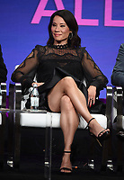 """BEVERLY HILLS - AUGUST 1: Lucy Liu onstage during the """"Why Women Kill"""" panel at the CBS All Access portion of the Summer 2019 TCA Press Tour at the Beverly Hilton on August 1, 2019 in Los Angeles, California. (Photo by Frank Micelotta/PictureGroup)"""