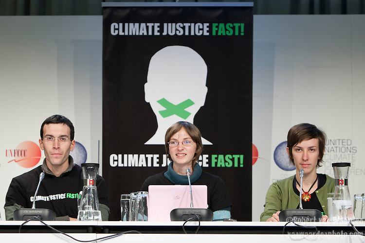 On day 32 of a hunger strike, the members of the Climate Justice fast held a press conference at the UNFCCC COP 15 in Copenhagen. Climate Justice Fast! was an international hunger strike to call for strong, just action on the climate crisis. It took place from the 6th of November 2009 until the conclusion of the failed Copenhagen climate talks on the 18th of December.