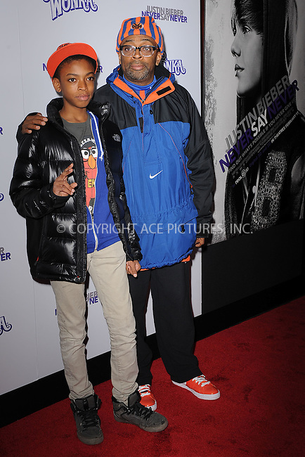 WWW.ACEPIXS.COM . . . . . .February 2, 2011...New York City....Spike Lee and Jackson Lee attend the New York premiere of 'Justin Bieber Never Say Never'  on February 2, 2011 in New York City....Please byline: KRISTIN CALLAHAN - ACEPIXS.COM.. . . . . . ..Ace Pictures, Inc: ..tel: (212) 243 8787 or (646) 769 0430..e-mail: info@acepixs.com..web: http://www.acepixs.com .