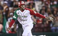 Chris Roberson de Mexico, durante el  partido final de la Serie del Caribe en el nuevo Estadio de  los Tomateros en Culiacan, Mexico, Martes  7 Feb 2017. Foto: AP/Luis Gutierrez