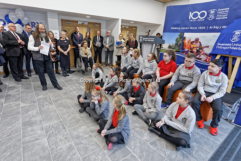 Pictured: Monday 04 February 2019<br /> Re: Opening of the Computational Foundry at the Swansea University Bay Campus, south Wales, UK.