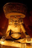 Olmec Dios Viejo statue from Cerro de las Mesas, Veracruz, Mexico. Museo Nacional de Antropologia, Chapultepec Park, Mexico City.