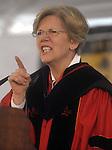 (Framingham Ma., 051913) Senator Elizabeth Warren, speaks to students during a commencement address Framingham State University Sunday. (Jim Michaud Photo)