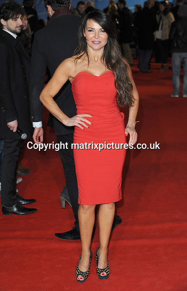 NON EXCLUSIVE PICTURE: PAUL TREADWAY / MATRIXPICTURES.CO.UK.PLEASE CREDIT ALL USES..WORLD RIGHTS..British television presenter Lizzy Cundy attending the UK film premiere of Flight, at Empire Leicester Square, London...JANUARY 17th 2013..REF: PTY 13311