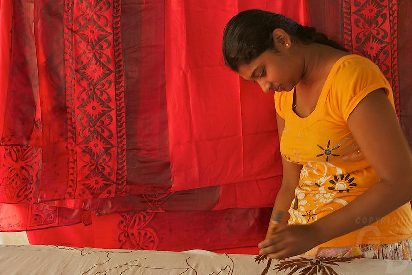 Batic worker near kandy Sri Lanka