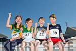 Ashling Harty,Gearoid Harty,Murish Harty and Thomas Guerin at the annual Ballyheigue Family Resource Centre Road Race & Fun Run on Sunday