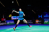 18th March 2018, Arena Birmingham, Birmingham, England; Yonex All England Open Badminton Championships; Kamilla Rytter Juhl (DEN) and Christinna Pedersen (DEN) in the womens doubles  final against Yuki Fukushima (JPN) and Sayaka Hirota (JPN)
