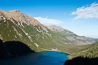 View of Morskie Oko lake, Tatra mountains, Poland