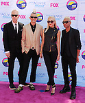 UNIVERSAL CITY, CA - JULY 22: Tom Dumont, Adrian Young, Gwen Stefani and Tony Kanal of No Doubt arrive at the 2012 Teen Choice Awards at Gibson Amphitheatre on July 22, 2012 in Universal City, California.