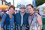 Rosarie and Richard Clifford with Nuala Kelly Milltown at Puck Fair on Thursday