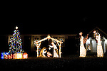 "TORRINGTON, CT- 23 December 2014-122314EC04--  Marlene and John Sarvillo, of 133 Torrington Heights Road in Torrington, won best ""Residential Nativity Display."" The city's Parks and Recreation Department sponsored the outdoor Christmas decorating contest. There were 30 entries in four categories this year. Erin Covey Republican-American"