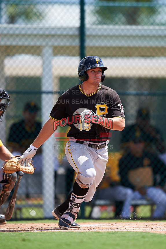 Pittsburgh Pirates Casey Hughston (19) during an Instructional League Intrasquad Black & Gold game on September 28, 2016 at Pirate City in Bradenton, Florida.  (Mike Janes/Four Seam Images)