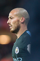 David Silva of Manchester City during the EPL - Premier League match between Swansea City and Manchester City at the Liberty Stadium, Swansea, Wales on 13 December 2017. Photo by Mark  Hawkins / PRiME Media Images.