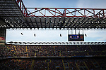 The stadium's electronic scoreboard pictured as the match enters second-half injury time at the Stadio Giuseppe Meazza, also known as the San Siro, as Internationale took on Cagliari in an Italian Serie A fixture. The match was overshadowed by a huge controversy that as Inter Ultras declared open warfare on captain Mauro Icardi for a chapter in his autobiography, accusing him of lying about an incident in 2015. Inter Milan lost the match 2-1, watched by a crowd of 43,757.