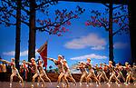 LE DETACHEMENT FEMININ ROUGE..Auteur : XIE Jin..Choregraphie : HONGWEI Dai..Compagnie : BALLET NATIONAL DE CHINE..Decor : YUNHONG Ma ..Lieu : Opera Garnier..Ville : Paris..Le : 05 01 2009..© Laurent PAILLIER / photosdedanse.com..All rights reserved