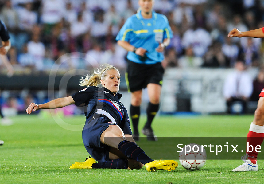 Uefa Women 's Champions League Final 2010 at  Coliseum Alfonso Perez in Getafe , Madrid : Olympique Lyon - Turbine Potsdam : Lara Dickenmann.foto DAVID CATRY / Vrouwenteam.be