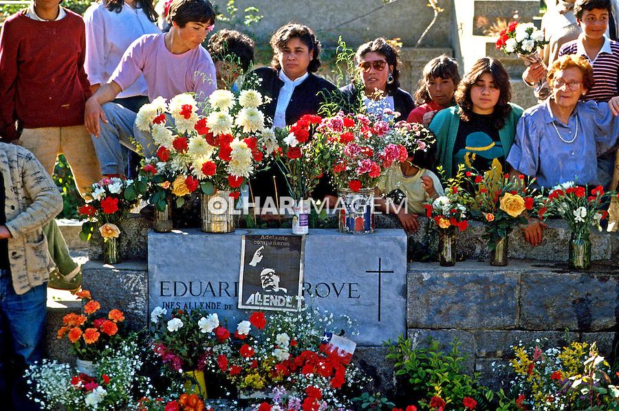 Túmulo de Salvador Allende em Viña del Mar. Chile. 1988. Foto de Salomon Cytrynowicz.