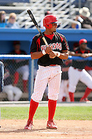 June 22nd 2008:  Outfielder Edwin Gomez (7) of the Batavia Muckdogs, Class-A affiliate of the St. Louis Cardinals, during a game at Dwyer Stadium in Batavia, NY.  Photo by:  Mike Janes/Four Seam Images