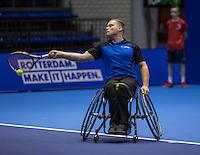 Rotterdam, Netherlands, December 13, 2016, Topsportcentrum, Lotto NK Tennis,  Rutger Bakker (NED) <br /> Photo: Tennisimages/Henk Koster
