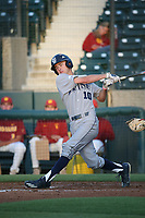 Ryan Johnston (10) of the UC Irvine Anteaters bats against the Southern California Trojans at Dedeaux Field on April 18, 2017 in Los Angeles, California. UC Irvine defeated Southern California, 14-3. (Larry Goren/Four Seam Images)