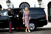 Mrs. Monika Babišová arrives with Czech Republic Prime Minister Andrej Babiš on the South Portico at White House in Washington, District of Columbia on Thursday, March 7, 2019. Credit: Ting Shen / CNP