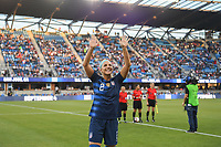 San Jose, CA -  Tuesday August 31, 2018: The women's national teams of the United States (USA) and Chile (CHI) play in an International friendly game at Avaya Stadium.