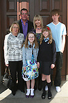 Chloe Whelan and family at the Ballymakenny NS Confirmation...Photo NEWSFILE/Jenny Matthews.(Photo credit should read Jenny Matthews/NEWSFILE)....This Picture has been sent you under the condtions enclosed by:.Newsfile Ltd..The Studio,.Millmount Abbey,.Drogheda,.Co Meath..Ireland..Tel: +353(0)41-9871240.Fax: +353(0)41-9871260.GSM: +353(0)86-2500958.email: pictures@newsfile.ie.www.newsfile.ie.FTP: 193.120.102.198.