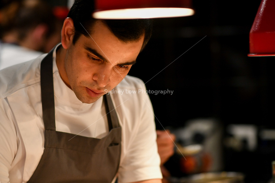 MELBOURNE, 30 June 2017 – Simon Consentino in the kitchen during a dinner celebrating Philippe Mouchel's 25 years in Australia with six chefs who worked with him in the past at Philippe Restaurant in Melbourne, Australia.