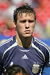 12 July 2007: Argentina's Matias Cahais. Argentina's Under-20 Men's National Team defeated Poland's Under-20 Men's National Team 3-1 in a  round of 16 match at the National Soccer Stadium (also known as BMO Field) in Toronto, Ontario, Canada during the FIFA U-20 World Cup Canada 2007 tournament.