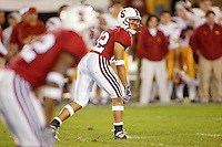 Evan Combs during Stanford's 49-17 loss to USC on November 9, 2002 at Stanford Stadium.<br />