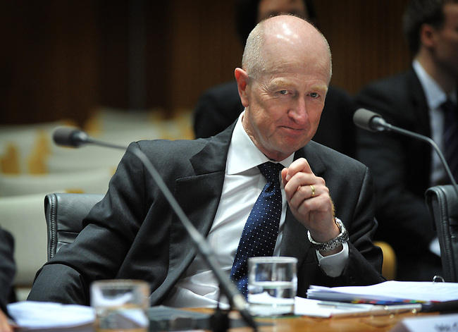 Glenn Stevens, governor of the Reserve Bank of Australia, appears before the House of Representatives Economics committee in Parliament House Canberra, Australia, on Friday, Aug. 24, 2012.  Photographer: Mark Graham/Bloomberg