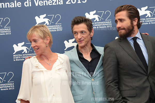 John Hawkes &amp; Jake Gyllenhaal at the photocall for Everest at the 2015 Venice Film Festival.<br /> September 02, 2015  Venice, Italy<br /> Picture: Kristina Afanasyeva / Featureflash