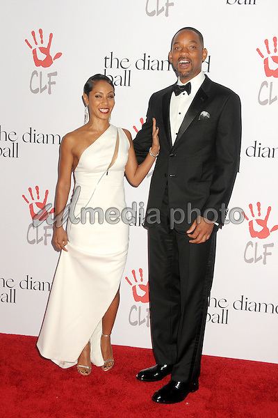 10 December 2015 - Santa Monica, California - Jada Pinkett Smith, Will Smith. 2nd Annual Diamond Ball held at Barker Hangar. Photo Credit: Byron Purvis/AdMedia