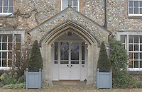 Pic by Si Barber  - 07739 472 922<br /> Creake Abbey in North Norfolk. Image shows - house entrance arch.