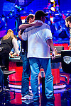 Steve Gee gets a hug frm Michael Esposio after being eliminated in 9th place