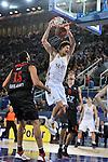 Ante Tomic machaca. Partido de Euroliga entre el Real Madrid y el EA7 Armani. 28 de Octubre 2011. La Caja M·gica. Madrid...Photo: Marcos / ALFAQUI