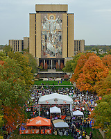 ESPN Gameday kicked off the Stanford Gameday for Notre Dame in front of Touchdown Jesus.