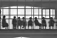 - the guests of a house of rest for old people watch to celebrations for the holy Week of Easter (April 1983)....- gli ospiti di una casa di riposo per anziani assistono alle celebrazioni per la Settimana Santa di Pasqua (aprile 1983)....