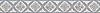 "5"" Flower & Ribbon border, a hand-cut mosaic shown in polished Lavender Mist, Blue Macauba, Calacatta Tia, and Kay's Green by New Ravenna."