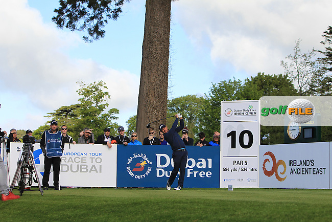 Graeme McDowell (NIR) on the 1st tee during Wednesday's Pro-Am round of the Dubai Duty Free Irish Open presented  by the Rory Foundation at The K Club, Straffan, Co. Kildare<br /> Picture: Golffile | Thos Caffrey<br /> <br /> All photo usage must carry mandatory copyright credit <br /> (&copy; Golffile | Thos Caffrey)