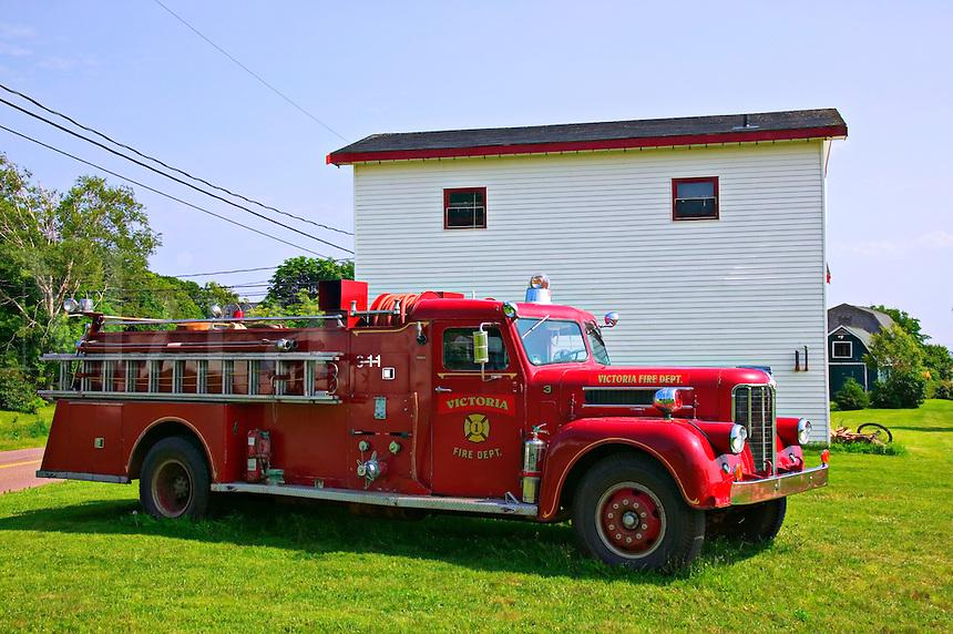 Victoria fire engine, Prince Edward Island; Canada; fire truck